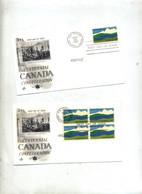 Lettre Fdc 1967 Carré Centenaire Canada + Seul - 1961-1970