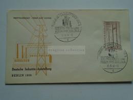 AV668.8  Germany    BRD  -   BERLIN - 1956 , FDC Deutsche Industrie-Ausstellung - Lettres & Documents
