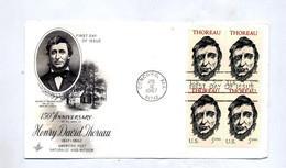 Lettre Fdc 1967 Carré Thoreau - 1961-1970