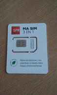 CARTE A PUCE GSM SIM SFR 3 EN 1 T.B.E !!! - Otros