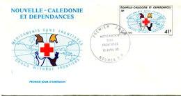 Nouvelle Calédonie - FDC Yvert 501 Médicaments Sans Frontières - X 1051 - FDC