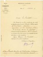 MERITE AGRICOLE LETTRE DE NOMINATION CHEVALIER DU MERITE AGRICOLE LES ARDILLATS RHONE 1927 - Historical Documents