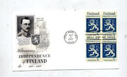 Lettre Fdc 1967 Carré Finlande - 1961-1970
