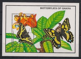 Ghana - 1992 - Bloc Feuillet BF N° Yv. 190 - Papillons / Butterflies - Neuf Luxe ** / MNH / Postfrisch - Papillons