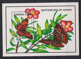 Ghana - 1992 - Bloc Feuillet BF N° Yv. 196 - Papillons / Butterflies - Neuf Luxe ** / MNH / Postfrisch - Papillons