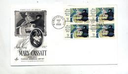 Lettre Fdc 1966 Carré Cassatt - 1961-1970