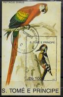 SAINT THOMAS ET PRINCE  BF Oblitere Oiseaux Perroquets - Other