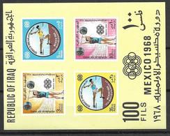 Iraq Sheet 1969 Mnh ** 13 Euros Olympics - Irak