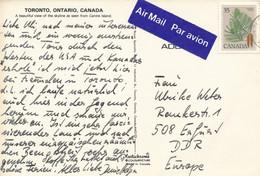 Kanada Mi. 719 Pine Luftpost - Label - Postkarte Nach DDR - Cartas