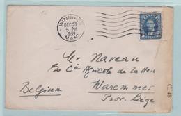 Militaire Post Met Censuur Van Winnipeg Canada Naar Liège (Belgique) - Cartas