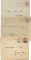 FINLANDE 3X ENV 1921 VESIJAVI HEESINGFORS VIIPURIAS ORIGINES DIFFERENTES - Cartas
