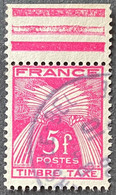 France YTYX085-Timbres Taxe Type Gerbes 5 F Used Stamp 1946-55 - FRAYX085U1 - Fiscaux
