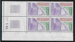 FRANCE SERVICE N°62** UNESCO COIN DATE DU 17/9/1980 - 1980-1989
