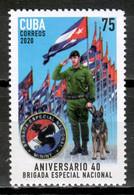 Cuba 2020 / Police National Brigade Dog MNH Policía Brigada Nacional Polizei Perro Hunde / Cu17725  C3-9 - Unused Stamps