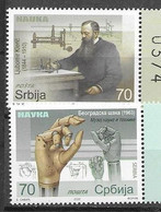 SERBIA, 2020, MNH,  LJUBOMIR KLERIC, INVENTORS, ENGINEERS, HEALTH, MEDICINE,2v - Autres