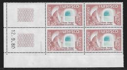 FRANCE SERVICE N°60** UNESCO COIN DATE DU 12/9/1980 - 1980-1989