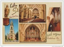 57-MOYEUVRE-GRANDE-MOSELLE- Eglise Saint Gorgon- Grand Orgue BARTHOLOMAEI -BLÉSI (1897) - Multivues- Nc- 10.5 X 15 - - Sin Clasificación