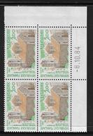 FRANCE SERVICE N°79/81** UNESCO 3 COINS DATES - 1980-1989