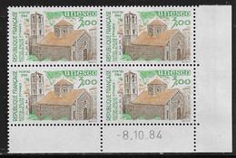 FRANCE SERVICE N°81** UNESCO COIN DATE DU 8/10/1984 - 1980-1989