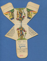 Rare Collection Fromage à Tartiner Gerber Chevalier 16 ème Siècle Carton Emballage Image Decouper Plier Coller Soldat - Altri