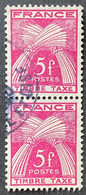 France YTYX085-Timbres Taxe Type Gerbes Pair Of 5 F Used Old Stamps 1946-55 - FRAYX085Ux2v - Fiscaux