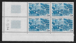FRANCE SERVICE N°82/84** BATIMENT 3 COINS DATES - 1980-1989