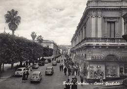 REGGIO CALABRIA-CORSO GARIBALDI-ANIMATISSIMO-CARTOLINA VERA FOTOGRAFIA VIAGGIATA IL 27-9-1959 - Reggio Calabria
