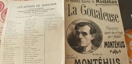 MONTEHUS /LA GOUALEUSE - Partitions Musicales Anciennes
