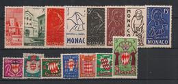 Monaco - Année Complète 1954 - N°Yv. 397 à 411 - Complet - Neuf Luxe ** / MNH / Postfrisch - Années Complètes