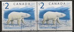 CANADA: Obl., N° YT 1617 X 2, Paire, TB - Usados