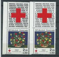 [45] Variété : N° 2345 Croix-rouge 1984 Double-frappe De La Vignette + Normal ** - Varietà: 1980-89 Nuovi