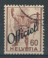 YY-/-1082-. YVERT N°195 . ZUMSTEIN,TIMB. ADM.  OFFICIEL,  N° 56, OBL., COTE 7.50 €,  IMAGE DU VERSO SUR DEMANDE - Officials