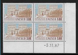 FRANCE SERVICE N°98/99** UNESCO 2 COINS DATES - 1980-1989