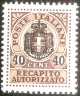 Repubblica Italiana - T2/16 - MNH - 1945 - Michel 4 - Recapito Autorizzato - Portomarken