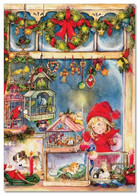 Little Girl Looks A Pet Store Puppy Christmas Gift By Lisi Martin NEW Postcard - Non Classificati