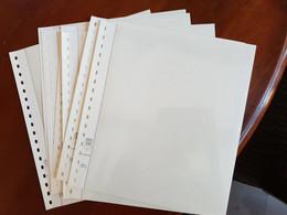 Feuilles Neutres Reliure LINDNER-T Nº Réf. 802209 à Deux Bandes Quasi Neuves Pour Classer Enveloppes, FDC, Cartes Max. - A Nastro