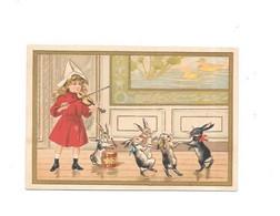 11990 - Chromo Crochard LE MANS, Chaussures à Vis, Petite Fille Jouant Violon, Chats Dansants - Unclassified