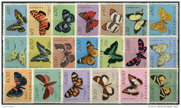 Mocambique Port. 1953. Mi.#417/36 MNH/Luxe. Fauna. Insects. Butterflies (Ts17) - Mozambique
