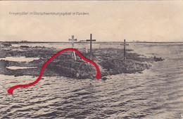 STUIVEKENSKERKE Diksmuide  Überschemmungsgebiet Graven Duitse Kaart  1° W.O. - Diksmuide