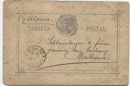 1883 EP Cancelado Con Ambulante  Barcelona-Port Bou A Mulhouse - 1850-1931
