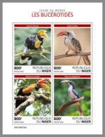 NIGER 2019 MNH Hornbills Nashornvögel Calaos M/S - OFFICIAL ISSUE - DH1923 - Other