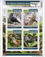 TOGO 2017 ** Birds Of Togo Vögel In Togo Oiseaux Du Togo M/S - OFFICIAL ISSUE - DH1728 - Other