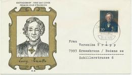 BERLIN 1970, 175. Geburtstag Von Leopold Von Ranke 1795-1886), Historiker; Gemälde Von Julius Schrader (1815-1900) 30 Pf - Cartas