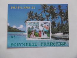 POLYNESIE  1983     BF7  * *   BRASILIANA 83 - Blocs-feuillets