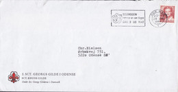 Denmark 2. SCT. GEORGS GILDE I ODENSE (Scouts Pfadfinder) Slogan 'Sclerose' ODENSE 1983 Cover Brief Margrethe II. Stamp - Cartas