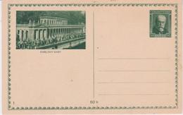 Czechoslovakia-1930 Unused 50 H (+60 H Paper Tax) Green Postal Stationery Karlovy Vary Scene Postcard Cover - Postales