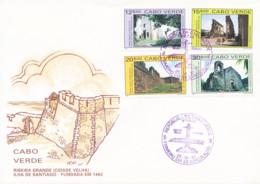 Cabo Verde - 1991 -   Tourism / Ruins Of Ribeira Grande - Santiago Island - FDC - Cape Verde