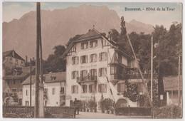 CPA  Bouveret (Suisse Valais) Le Sympathique Hôtel De La Tour Sa Terrasse Son Restaurant    Ed Chapallaz  RARE - VS Valais