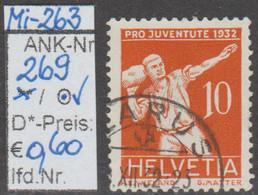 "1932 - SCHWEIZ -  PJ -  FM/DM ""Sportbilder"" 10 C.(+5C.) Orange - Gestempelt - S. Scan  (269o   Ch) - Used Stamps"