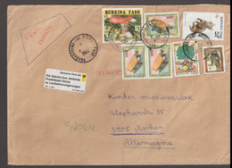 Burkina Faso Letter PostedDuagadoogou 11.3.2006 To Germany With German Label 11.96 Wrong ZIP Code Die Falsche - Burkina Faso (1984-...)